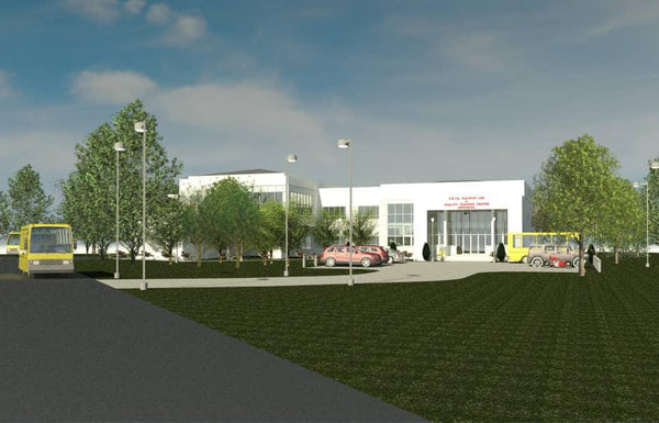 Outside building rendering of the Cocoa Flavour Lab and Training Centre at CRIG