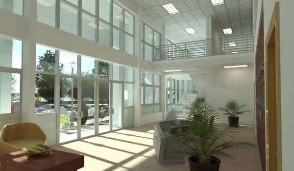 Inside building rendering of the Cocoa Flavour Lab and Training Centre at CRIG