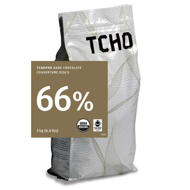 TCHO Pro 66% Dark Chocolate Discs 3kg Bag