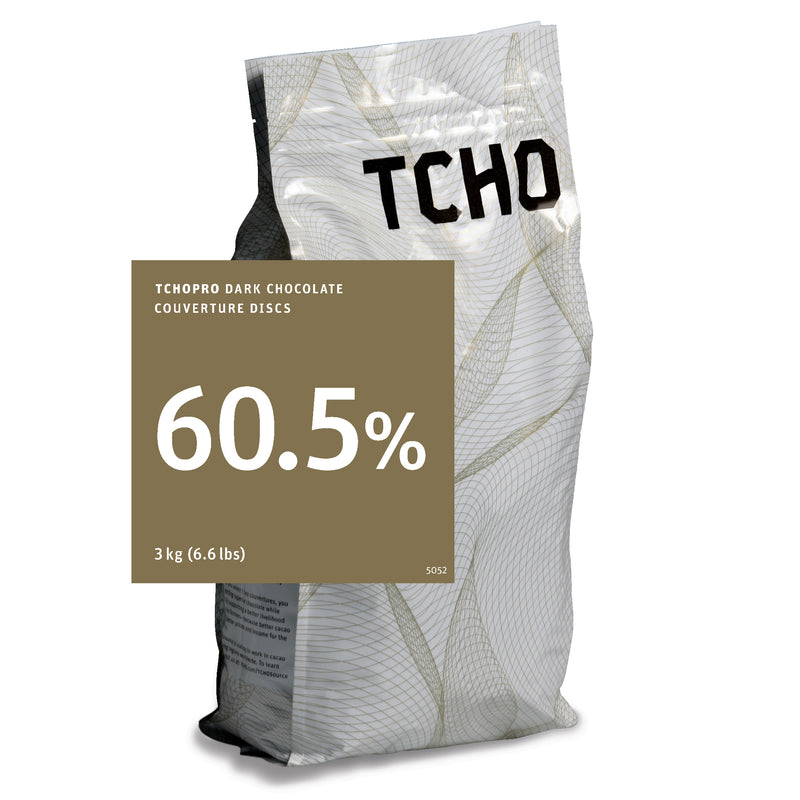 TCHO Pro 60.5% Dark Chocolate Discs 3kg Bag