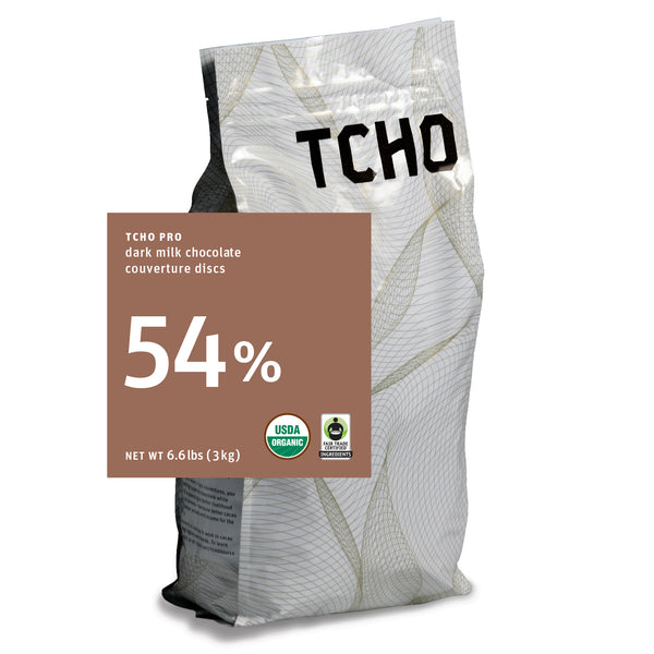 "TCHO Pro ""Cacao 54%"" Milk Chocolate Discs 3kg Bag"