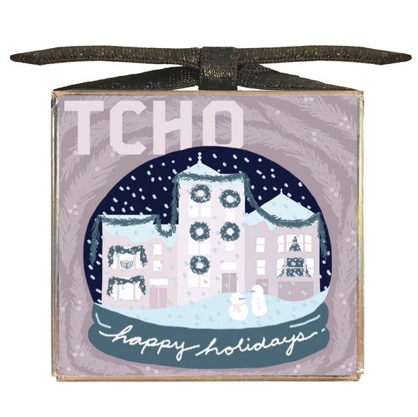 COMING SOON Snow Globe 6x8g Chocolate Sampler Cube (AVAILABLE 11/19)