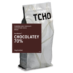 "TCHO Pro ""Chocolatey 70%"" Dark Chocolate Discs 3kg Bag"