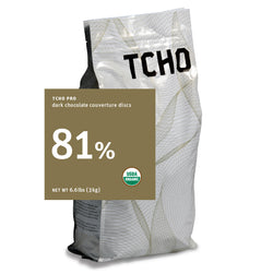 "TCHO Pro ""Extra Dark 81%"" Dark Chocolate Discs 3kg Bag"