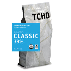"TCHO Pro ""Classic 39%"" Milk Chocolate Discs 3kg Bag"