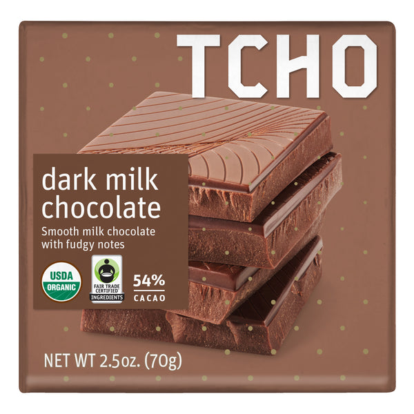 54% Dark Milk Chocolate 70g bar