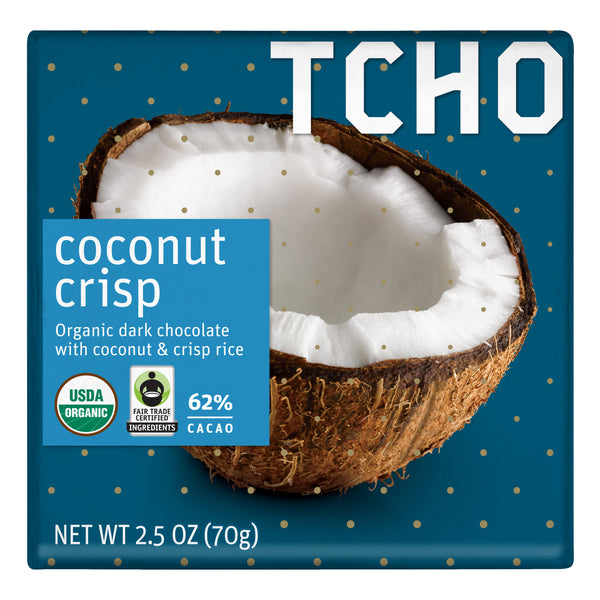 "Dark Chocolate ""Coconut Crisp"" 70g Bar"