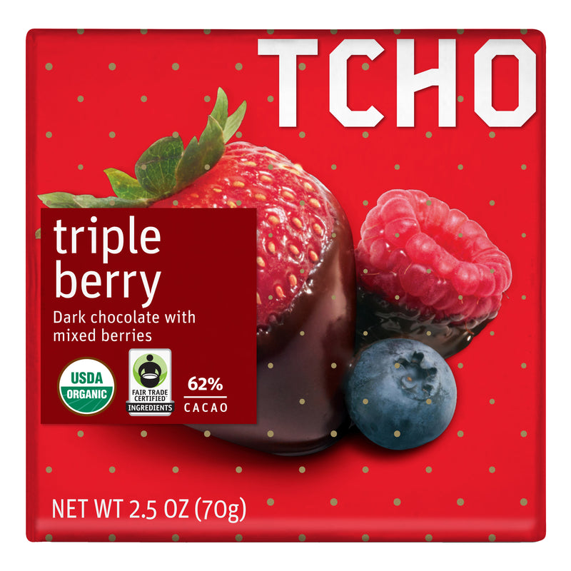 "Dark Chocolate ""Triple Berry"" 12x70g Bars"