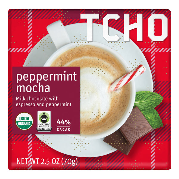 "Milk Chocolate ""Peppermint Mocha"" 12x70g Bars"