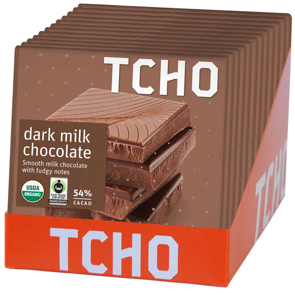 54% Dark Milk Chocolate 12x70g Bars