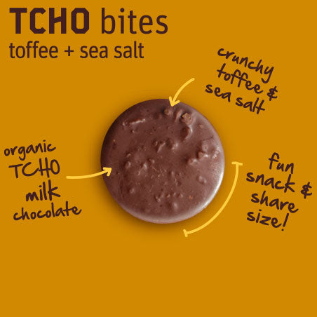 "TCHO Bites Milk Chocolate ""Toffee + Sea Salt"" 5oz Bag"