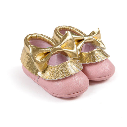 Baby girl Newborn Bowknot Toddler First Walkers Fashion Shoes - KISISA BABY SHOES