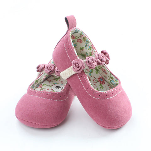 Beautiful Flower First Walkers Floral Princess Non-slip Baby Shoes - KISISA BABY SHOES