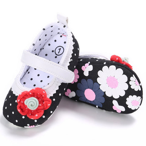 Princess Shoes Soft Bottom Flowers Learning Shoes