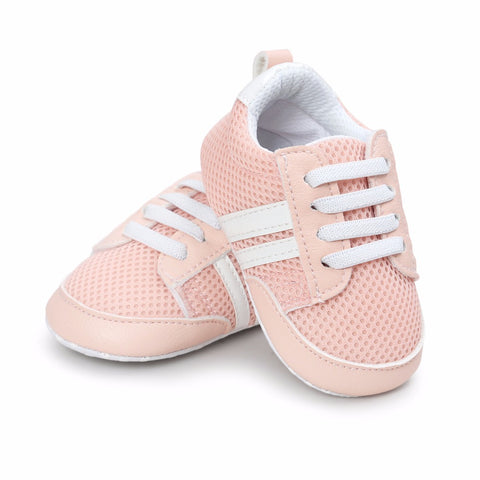 Baby Shoes Crib Bebe Anti-Slip Lace-Up Sneakers - KISISA BABY SHOES