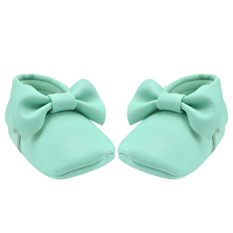 Baby Girl Tassel Moccasins Bowknot - KISISA BABY SHOES