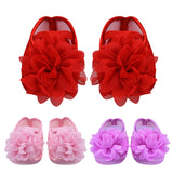 Baby Princess Shoes Girls Flower Chiffon - KISISA BABY SHOES