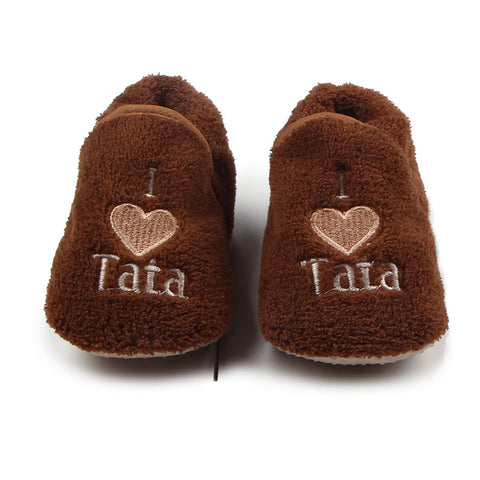 Baby Slippers Soft Sole First Walkers Plush Winter Home Wear - KISISA BABY SHOES