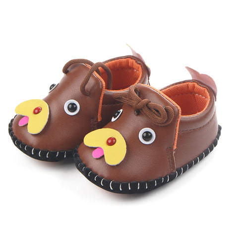 Cartoon Doggy Baby Loafers Infant Rubber Sole Shoes
