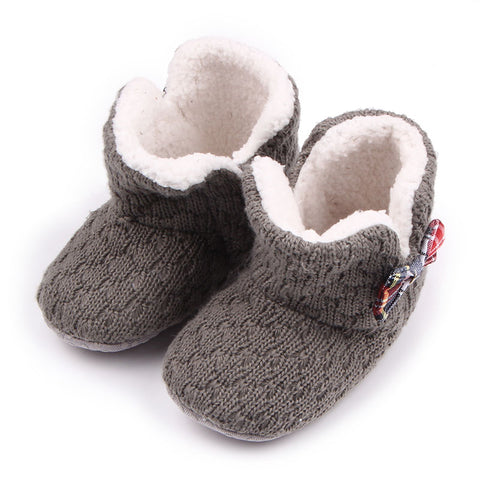 Winter Comfortable Solid Cotton Baby Boots