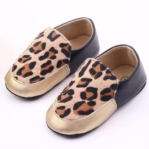 Baby Moccasins Soft Leopard Shoes