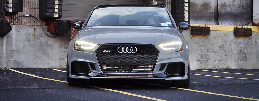 STM Intercooler on a Nardo Grey Audi RS3