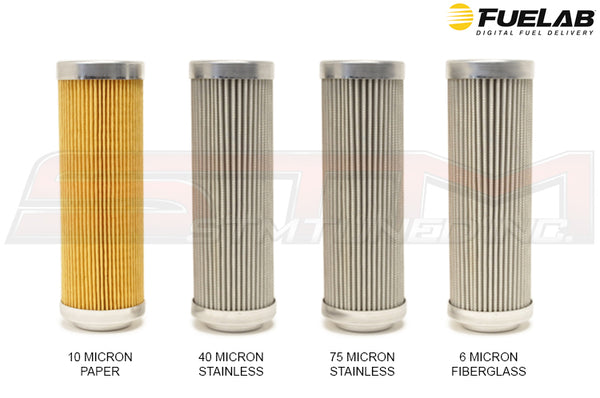 "Fuelab 828 Series Fuel Filter Elements 5"" Long"