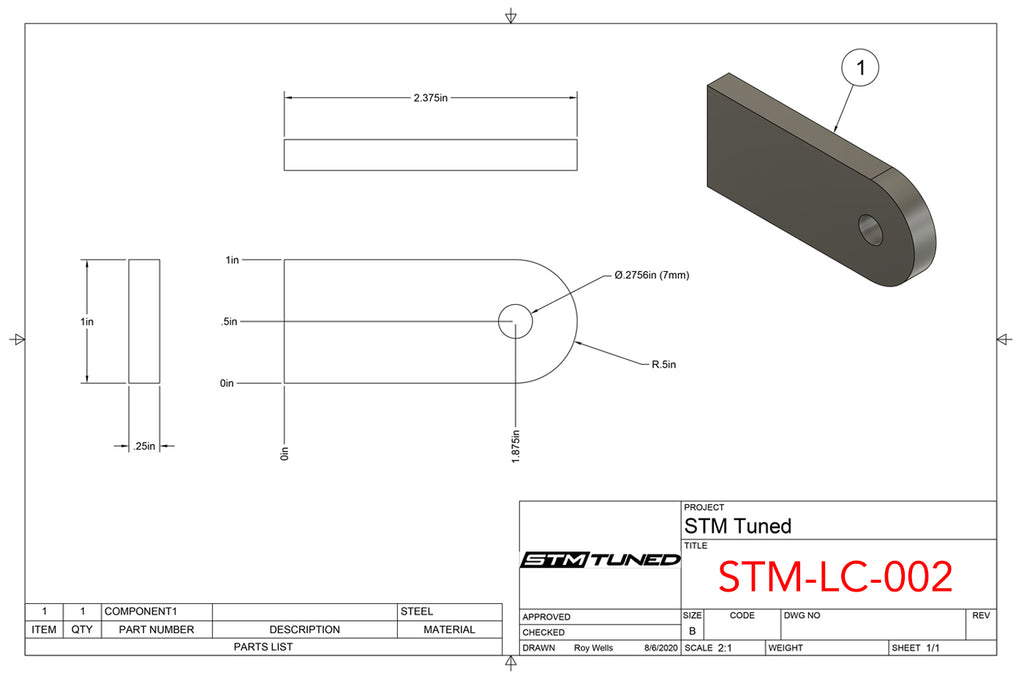 STM-LC-002 Dimensions