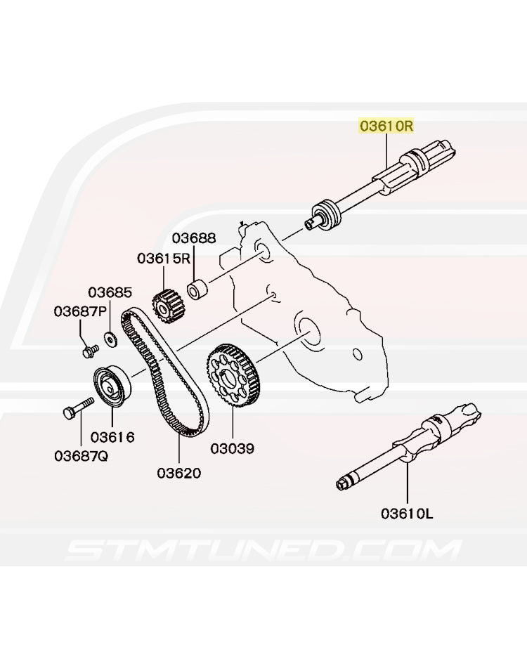 MN137236 OEM Evo 1-8 1G/2G DSM and GVR4 RH Balance Shaft