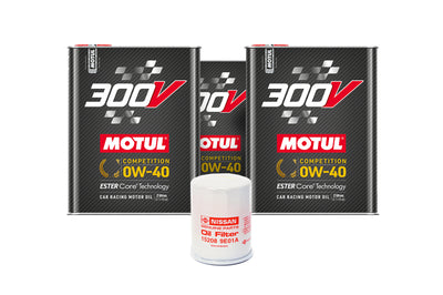 R35 GTR Engine Oil Change Package 0w40 Motul 300V Trophy