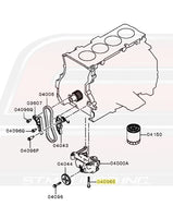 Mitsubishi OEM Oil Pump Diagram for Evo X