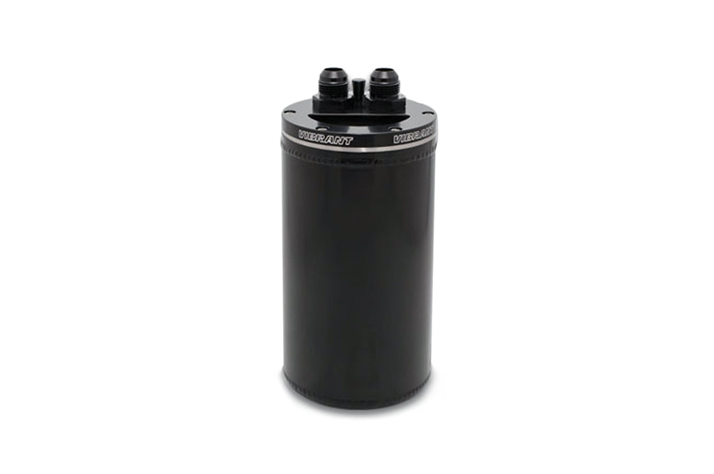 12695 Vibrant Universal 2-Port Catch Can with Recessed Filter Top