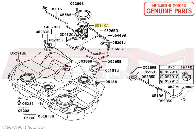 1760a190 1760a031 mn161238 oem mitsubishi evo 8 9 fuel pump assembly rh stmtuned com mitsubishi lancer fuel pump diagram mitsubishi shogun fuel pump diagram