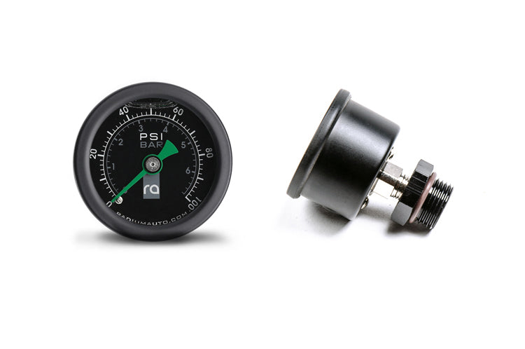 Radium Fuel Pressure Gauge 0-100psi with 8AN ORB Adapter (20-0075)
