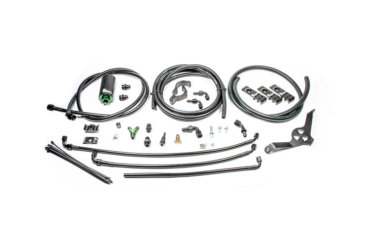 Radium Fuel Hanger Install Kit with Filter (Replaces Hard Lines) for 08-14 WRX/STi