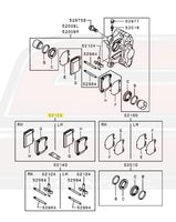 Mitsubishi OEM Rear Brembo Diagram for Evo X Image © STM Tuned Inc