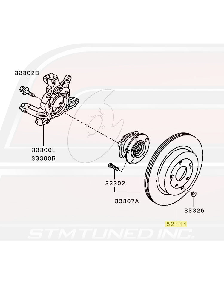 4615A186 Mitsubishi OEM Rear Brake Rotor for Evo X