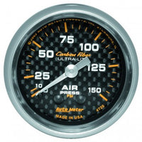 "Air Pressure: 0-150 PSI - Carbon Fiber Mechanical Gauge (2 1/16"")"