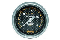 "Fuel Pressure: 0-15 PSI - Carbon Fiber Mechanical Gauge (2 5/8"")"