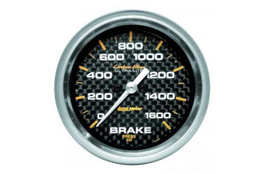 "Brake Pressure: 0-1600 PSI - Carbon Fiber Stepper Motor Gauge (2 5/8"")"