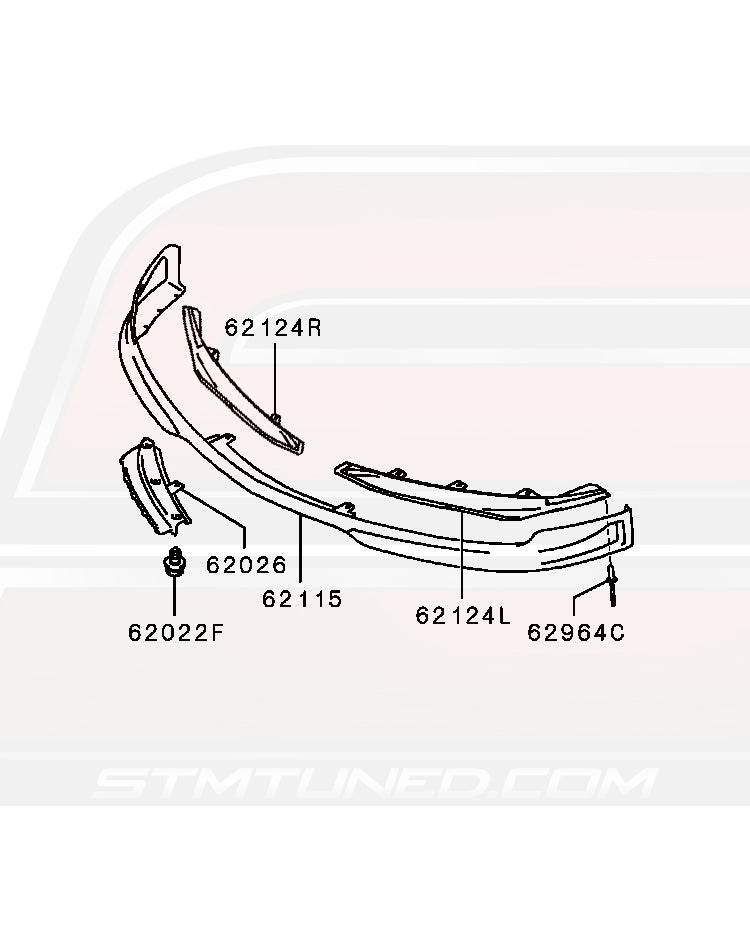 Mitsubishi OEM Front Lip/Under Tray Attachments for Evo 9 SE