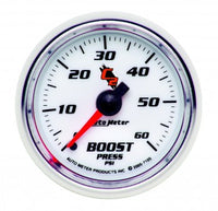"Boost: 0-60 PSI - C2 Mechanical Gauge (2 1/16"")"