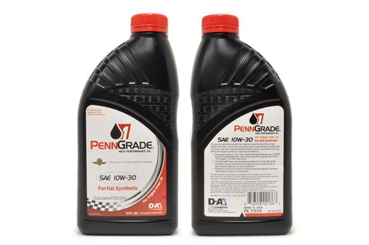 71506 PennGrade 1 Partial Synthetic High Performance Oil SAE 10w30