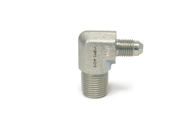 -4AN 90° to 3/8 NPT Male Steel Turbo Adapter Fitting (782246)