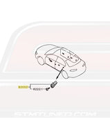 Mitsubishi OEM Door Light Switch for Evo X Diagram (8608A220)  Image © STM Tuned Inc