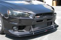 APR Carbon Fiber Front Wind Splitter with Rods for Evo X (CW-411096)
