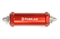 Red Fuelab 828 Series Fuel Filter