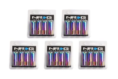 NRG Aluminum Extended Lug Nuts (M12 x 1.5) Set of 20 NeoChrome (LN-470MC)