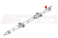Mitsubishi OEM Driveshaft to Rear End Bolt Diagram (MB000938)  Image © STM Tuned Inc