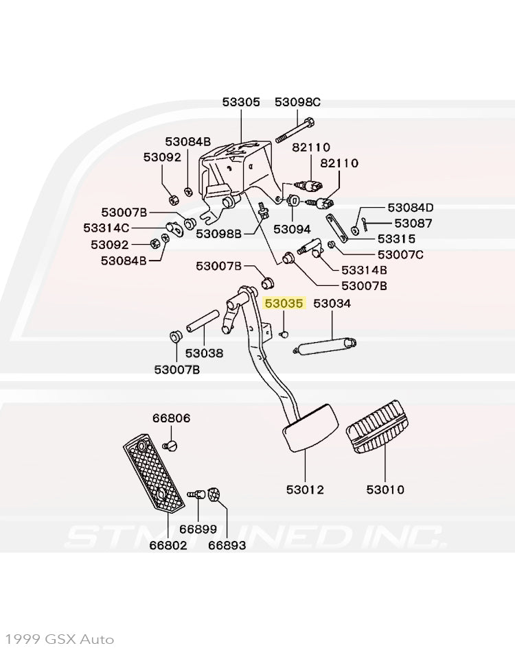 MB151298 Mitsubishi OEM Clutch/Brake Pedal Stopper for 1G
